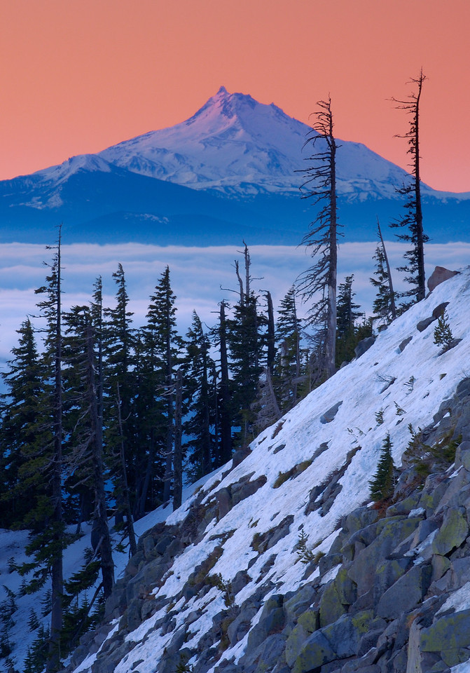 Mount Jefferson at Dawn – Mount Jefferson Wilderness, Oregon