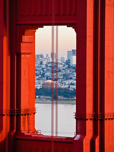 Palace of Fine Art - through the Golden Gate Bridge