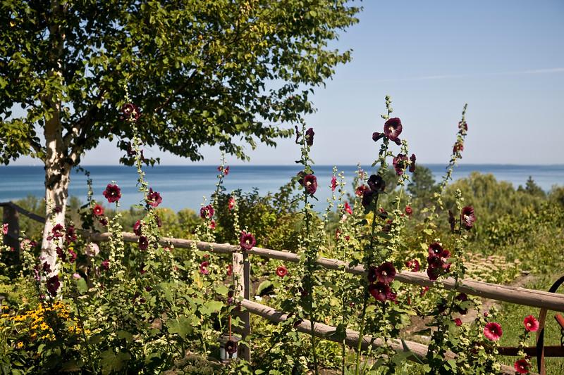 Flowers at The Legs Inn, Cross Village, Michigan