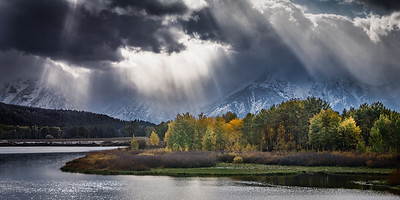 God beams, Oxbow Bend