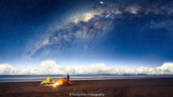 Camping under the stars like a fairytale