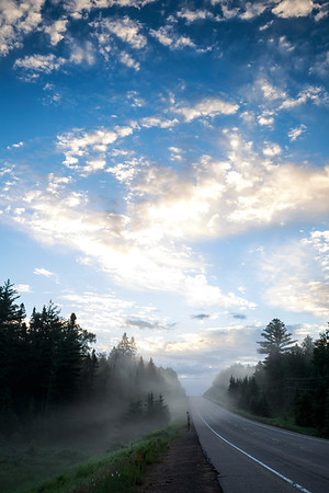 Early morning drive through Algonquin