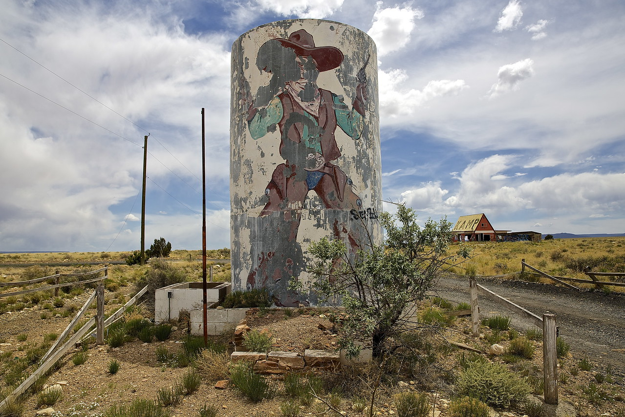 Cowboy Water Tower #2. Near Winslow, Arizona