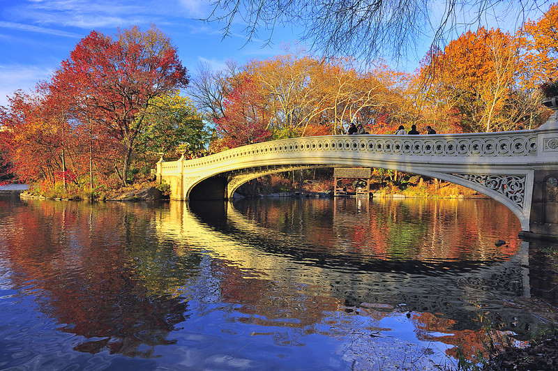 Bow Bridge in Autumn, Central Park, New York City
