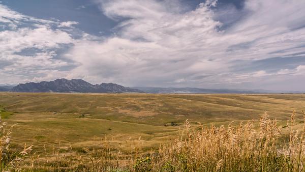 Gazing at the Flatirons in Superior, Colorado
