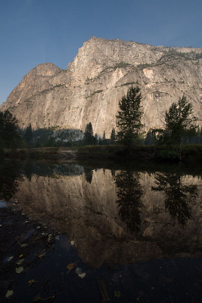 Reflections in Merced River, Yosemite National Park, California