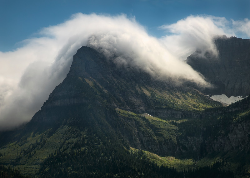 Cloud Bank Moving West - Glacier National Park