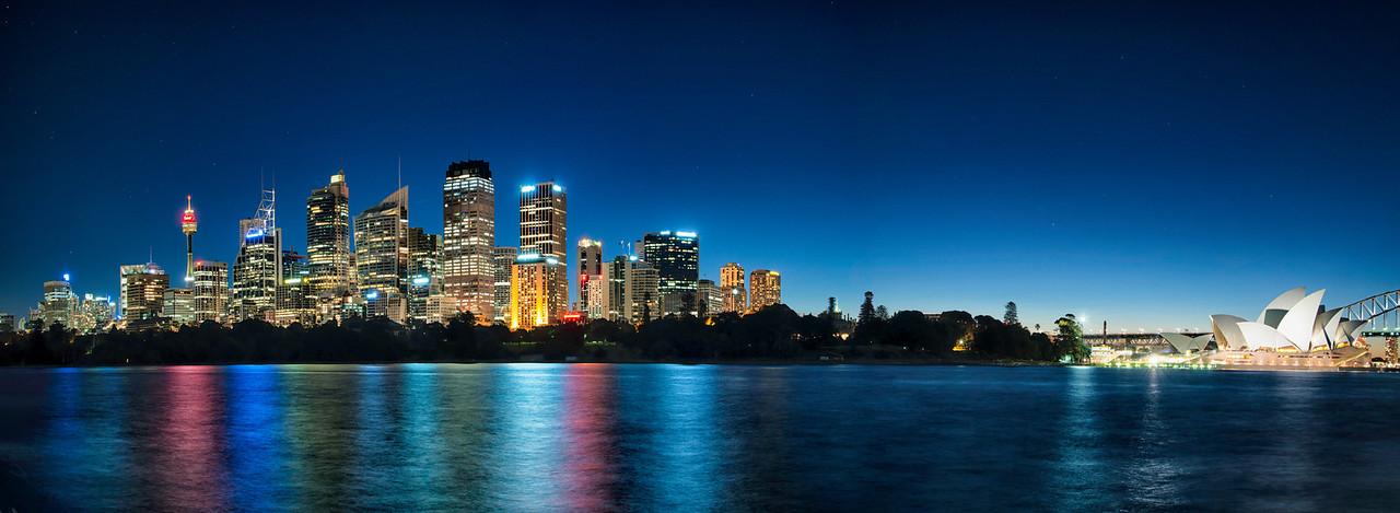 Crystal Clear Sydney Skyline Pano