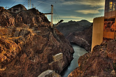 Out from Hoover Dam