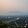 Aerial view of Luang Prabang at dawn