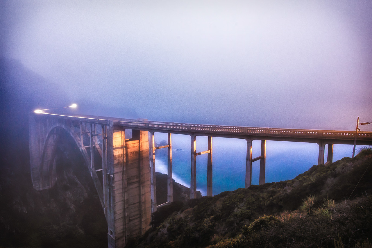 Bixby Bridge in Fog