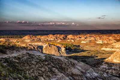 Sunset at Dinosaur Provincial Park