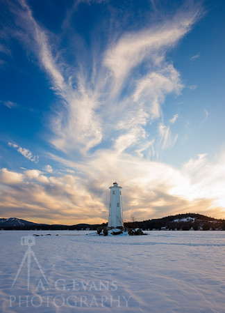 Loon Island Light Clouds