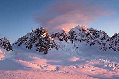 Sunset from Pioneer Hut