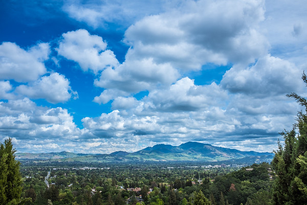 Clouds over Mt Diablo