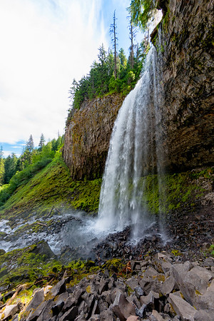 Tamanawas Falls Fish Eye - Mount Hood-14