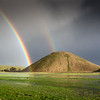 Silbury Hill in a Winter Shower