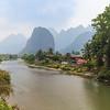 Scenic landscape in Vang Vieng, Laos