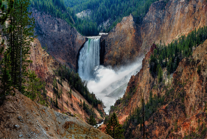 Lower Yellowstone Falls on the Grand Canyon of the Yellowstone