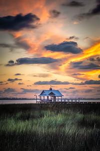 Isolated Pier East Beach Ocean Springs, Mississippi