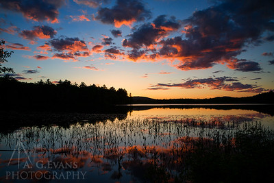 Gile Pond Sunset