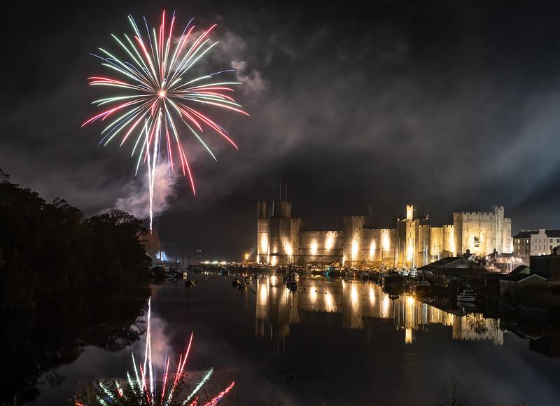 Caernarfon Castle Fireworks