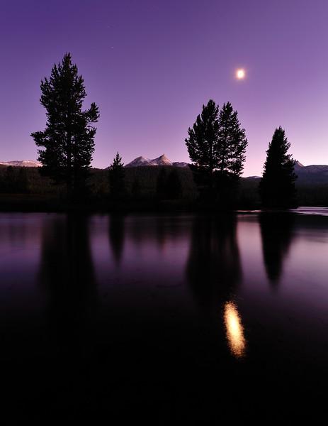 Moon Over Tuolumne River, Yosemite National Park, CA