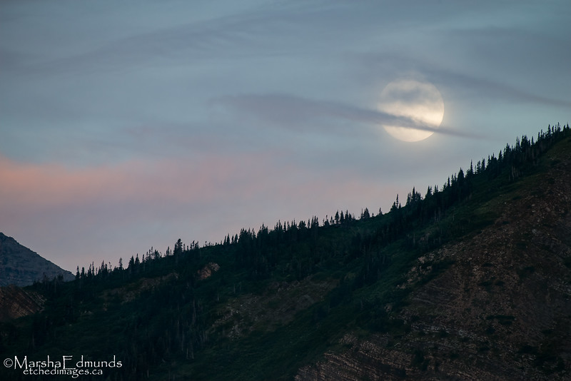 Moonrise and Sunset Very Close Together