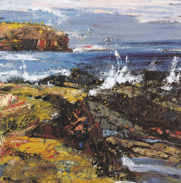 Peter McLaren, Skipi Geo, Orkney. Oil on Board, 48 x 48 inches