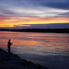Sunset Fisherman Cape Cod Canal