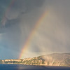Crater Lake Storm with Rainbow