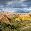 Amazing clouds over the Badlands, Badlands National Park, South Dakota