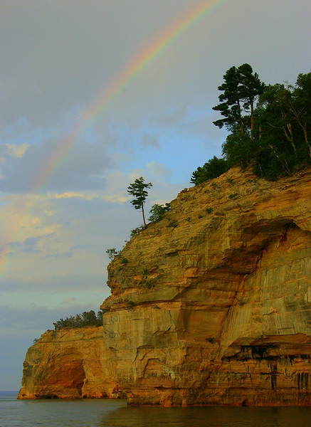 Pictured Rocks Rainbow, Michigan