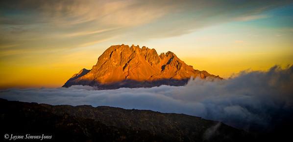 Sunset on Mawenzie Peak....Mt Kilimanjaro, Tanzania Africa
