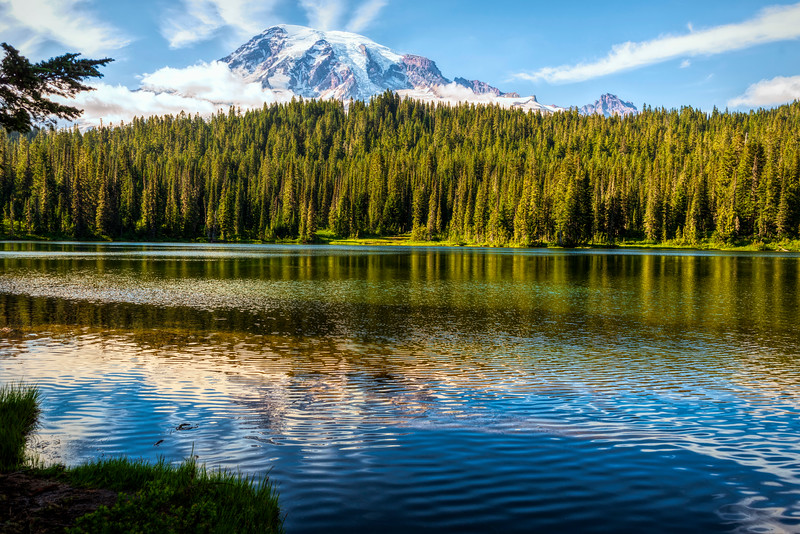 Mt Rainier from beside a lake