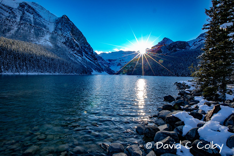 Sunset at Lake Louise