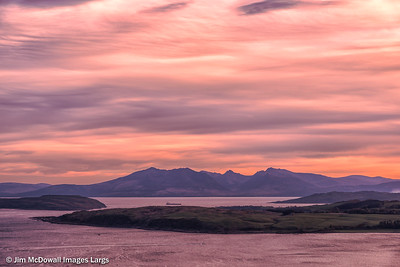 Arran Hills after sunset