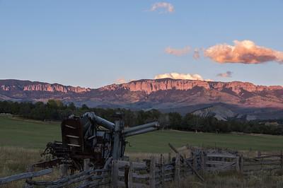 Farm Equipment and Cimarron Mountains