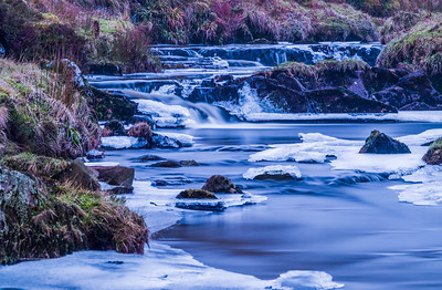 Frozen Scottish River in Winter.