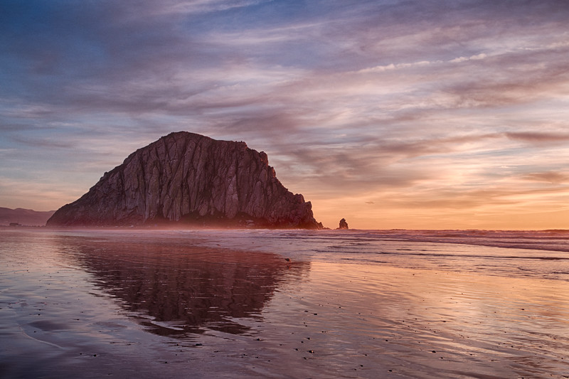 Morro Rock Winter Sunset