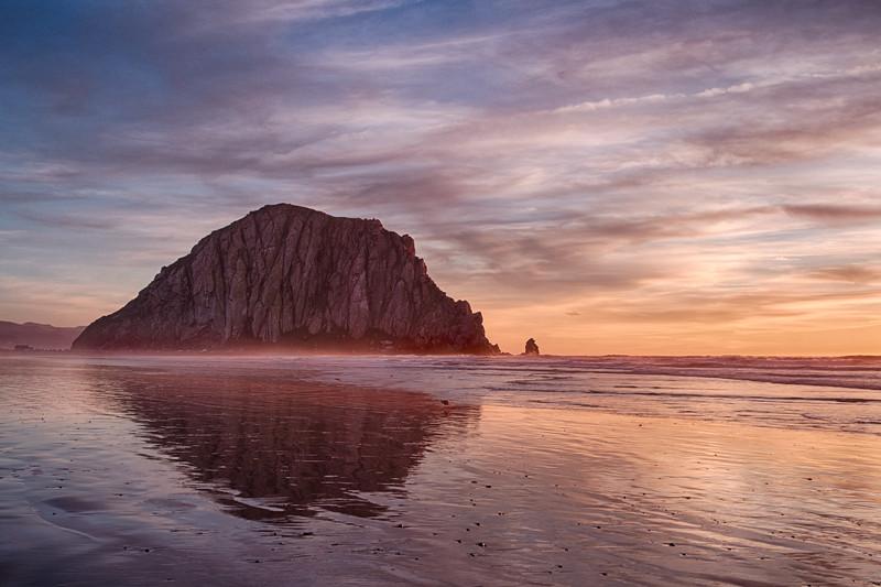 Morro Rock Winter Sunset