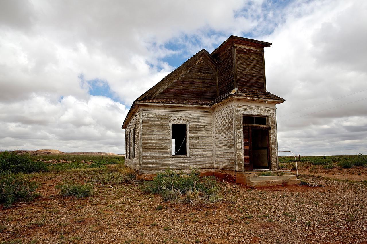 Abandoned Church. Taiban, New Mexico.