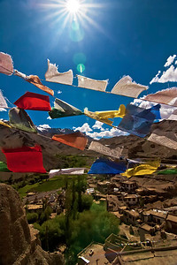 Prayer Flags at Lamayuru Ladakh India