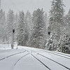 Train Tracks and Snow