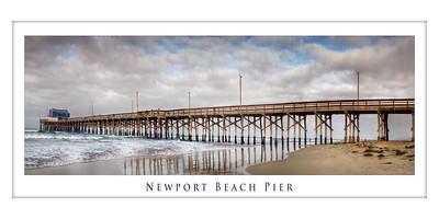 Newport Beach Pier Panorama