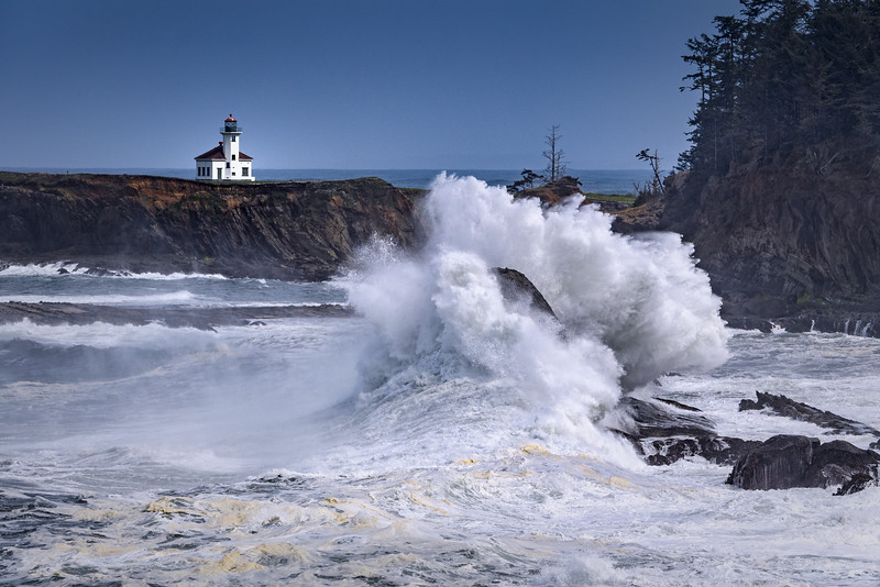 Cape Arago Lighthouse near Coos Bay, Oregon