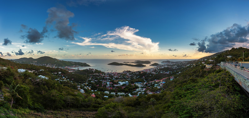View from Skyline Drive, St Thomas USVI