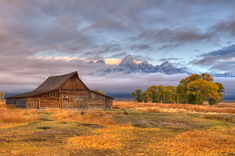 Moulton Barn at Sunrise, Grand Tetons