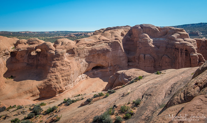 Sandstone Formation Just Before Reaching Delicate Arch