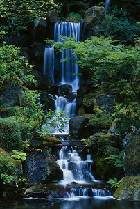 Japanese Garden Waterfall – Portland, Oregon